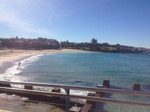 Here on Coogee Beach
