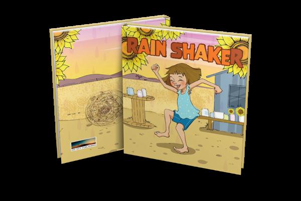 Book display of Rain Shaker