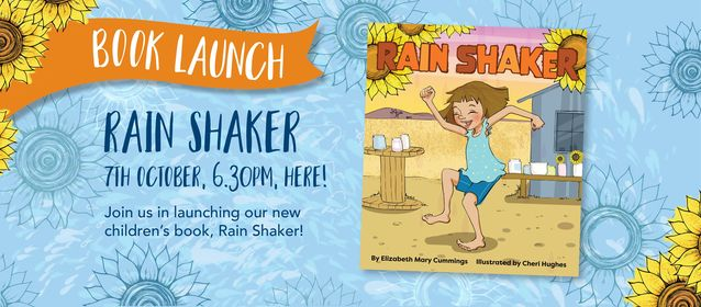 Poster announcing Rain Shaker launch 7th October 2020 6:30pm