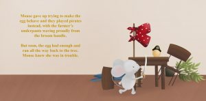 Book sample showing Mouse playing pirates